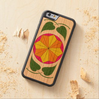 Green Leaf Wooden Phone Case