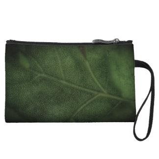 Green Leaf Wristlet