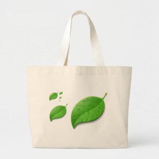 Green Leafs Canvas Bags