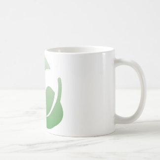 green leafs basic white mug