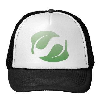 green leafs hats