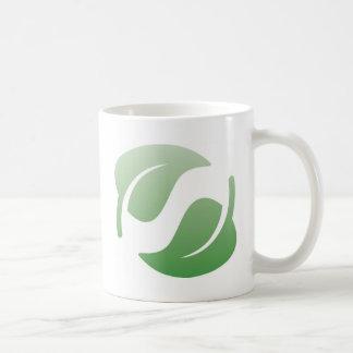 green leafs coffee mugs