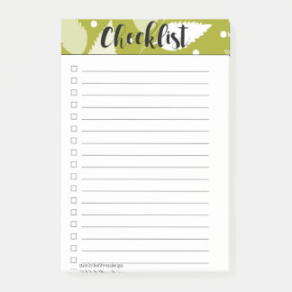 Green Leafy Checklist Post-It Notes