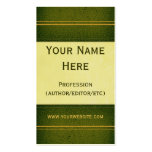 Green Leather Book Business Card