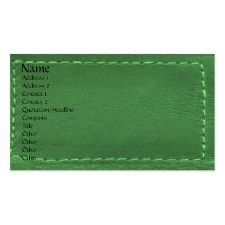Green Leather Look Designer COWBOYS Business Card Template