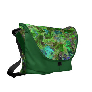 Green Leaves Abstract Pattern Commuter Bags