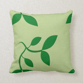 Green Leaves American Mojo Throw Pillow Throw Pillows