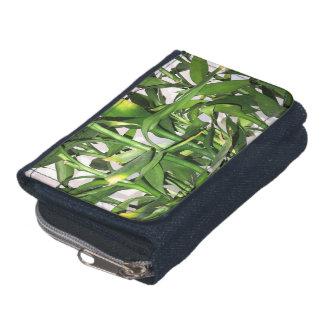 Green leaves and bamboo shoots house plant wallet