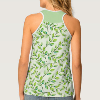 Green Leaves and Branches Singlet