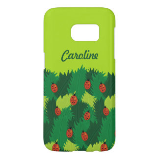 Green Leaves And Ladybugs Spring Time Custom Name