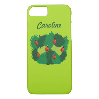 Green Leaves And Ladybugs Spring Time Custom Name iPhone 8/7 Case
