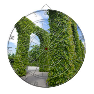 Green leaves arches dartboard