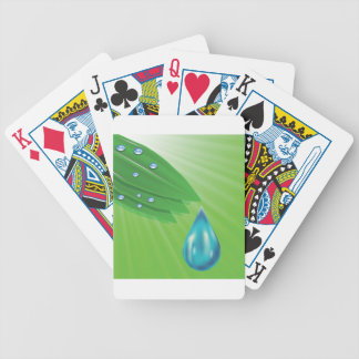 green leaves bicycle playing cards