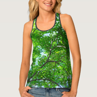 Green Leaves, Branches and Blue Sky Singlet