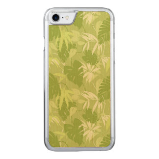 Green Leaves Carved iPhone 7 Case