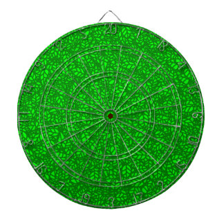 green leaves dartboard