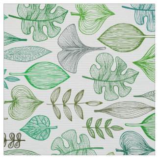 Green Leaves Fabric