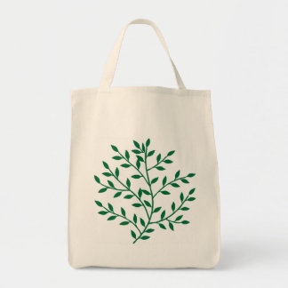 Green leaves green olive branch leaf decor tote bags