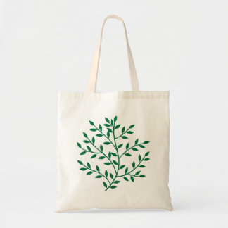 Green leaves green olive branch leaf decor canvas bags