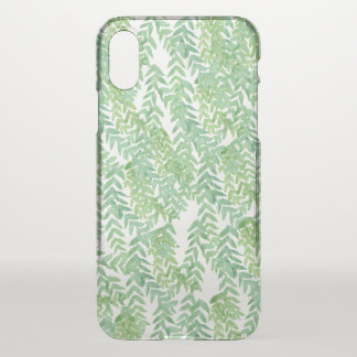 Green leaves iPhone x case