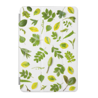 Green Leaves Isolated on White Background iPad Mini Cover