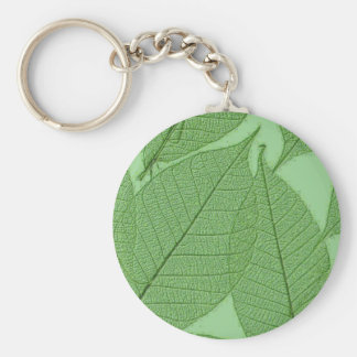 Green Leaves Keychain