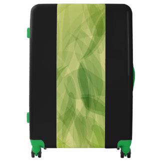 Green Leaves Large Sized Luggage Suitcase