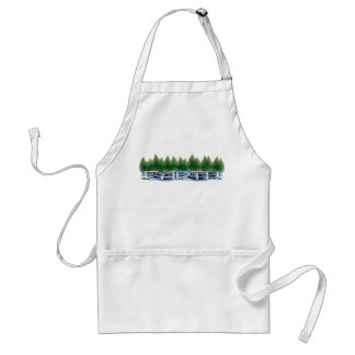 Green Leaves Love Your Mother Earth Apron