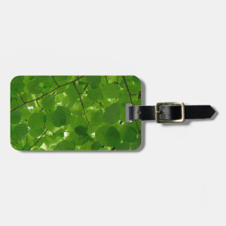 Green Leaves Luggage Tag