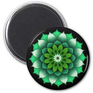 Green Leaves Mandala Magnet