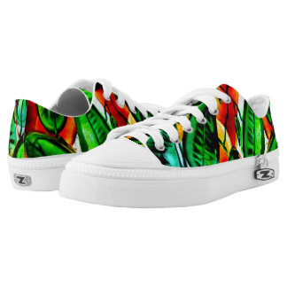 Green,Leaves, Nature, Garden, Printed Shoes