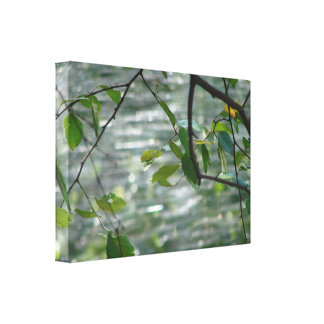 Green Leaves Of Hope Stretched Canvas Print