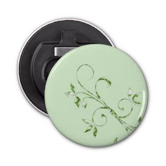 Green Leaves on Mint Green Bottle Opener