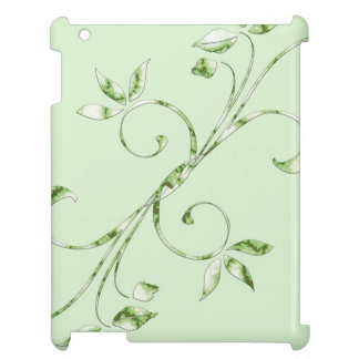 Green Leaves on Mint Green Case For The iPad