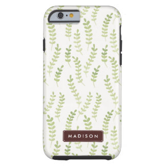 Green Leaves Pattern Tough iPhone 6 Case