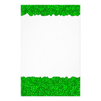 green leaves stationery design