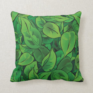 Green Leaves - Ver 1 Throw Cushions