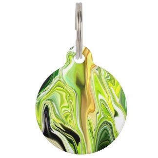 Green Leek Abstract Pet Tag