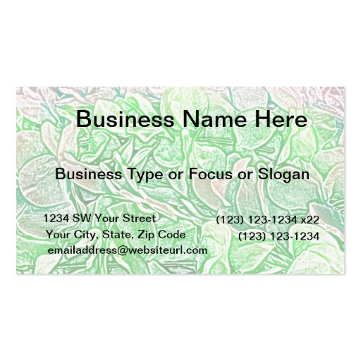 green lei sketch flowers neat abstract background business card template