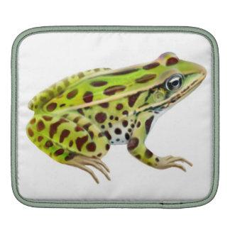Green Leopard Frog Rickshaw Sleeve Sleeves For iPads