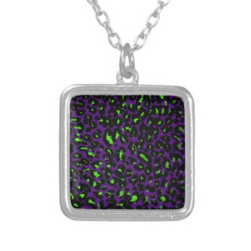 Green Leopard Spots on Purple Jewelry