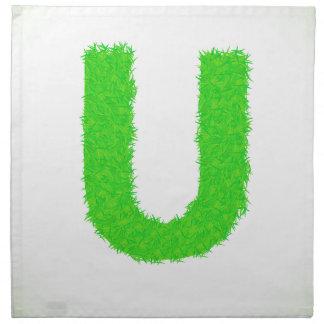 green letter napkin