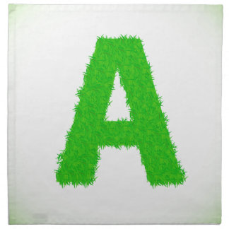 green letters napkin