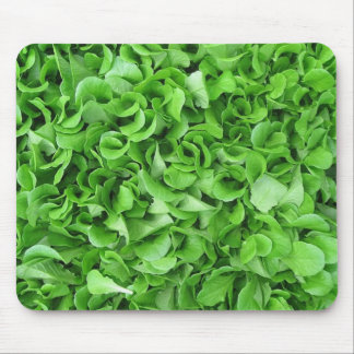 Green lettuce mouspad mouse pad