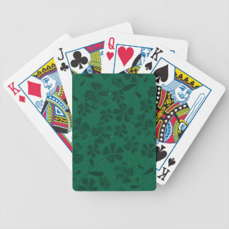 green lflowers bicycle playing cards