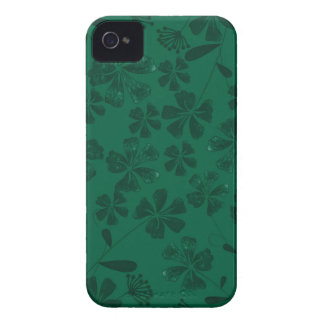 green lflowers Case-Mate iPhone 4 cases