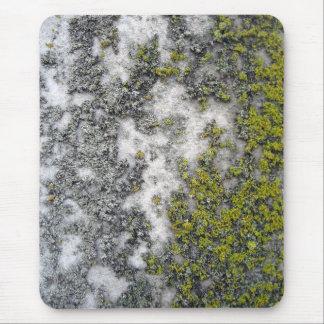 Green lichen on granite mouse pad