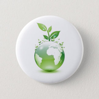 Green Life 6 Cm Round Badge