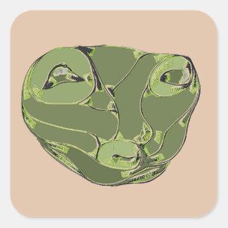Green Life Form Square Sticker