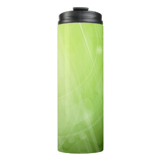 Green light design in hi-tech style thermal tumbler